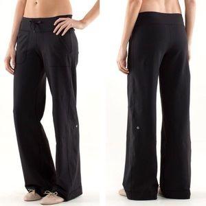 "Lululemon ""Still"" Black Wide Leg Yoga Pants size 4"